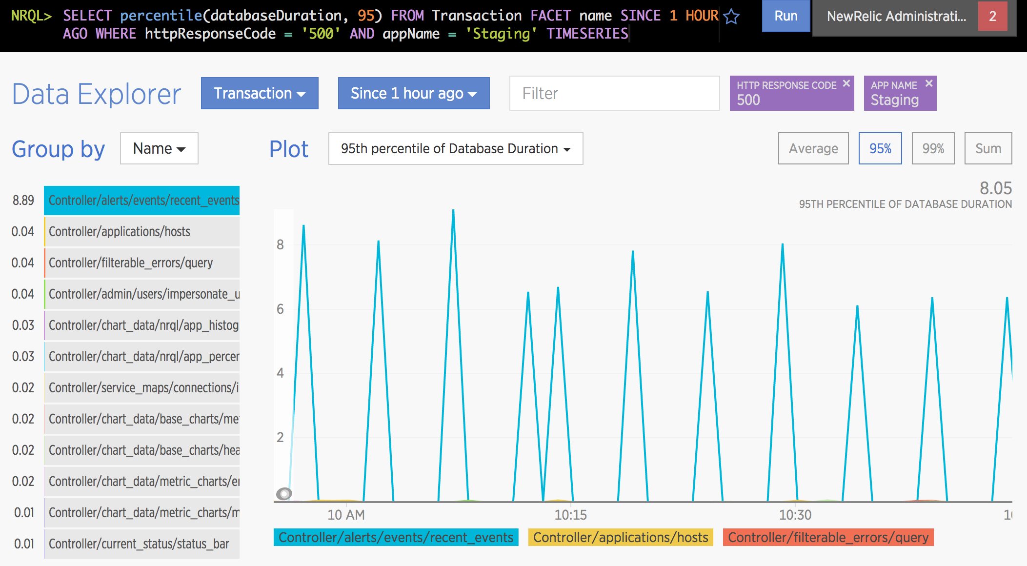 New Relic Insights Data Explorer 5
