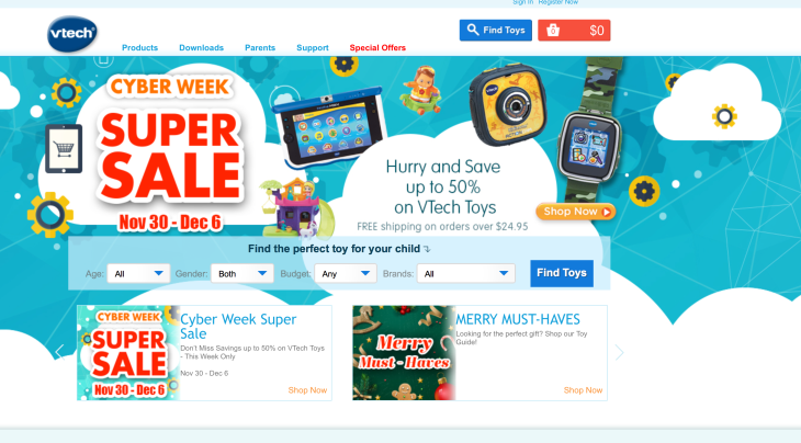 Toymaker VTech Leaks Millions Of Parent Emails And Child