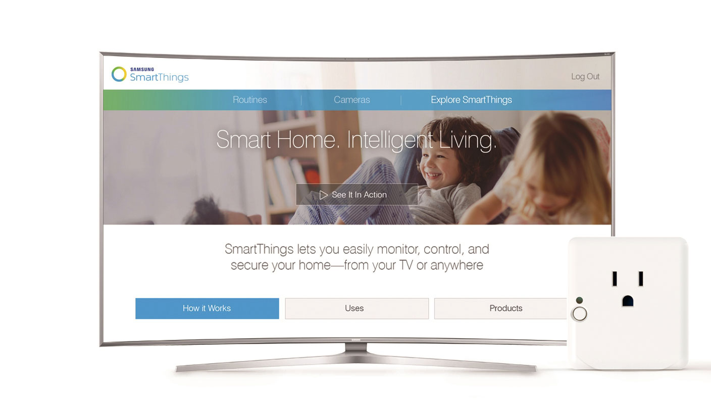 smartthings and samsung team up to make your tv a smart home hub techcrunch. Black Bedroom Furniture Sets. Home Design Ideas