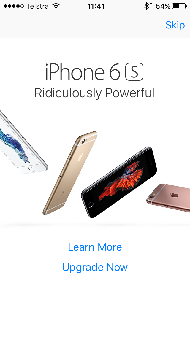 Apple pushes users to upgrade their iphones via pop up ads in the iphone ad publicscrutiny Choice Image