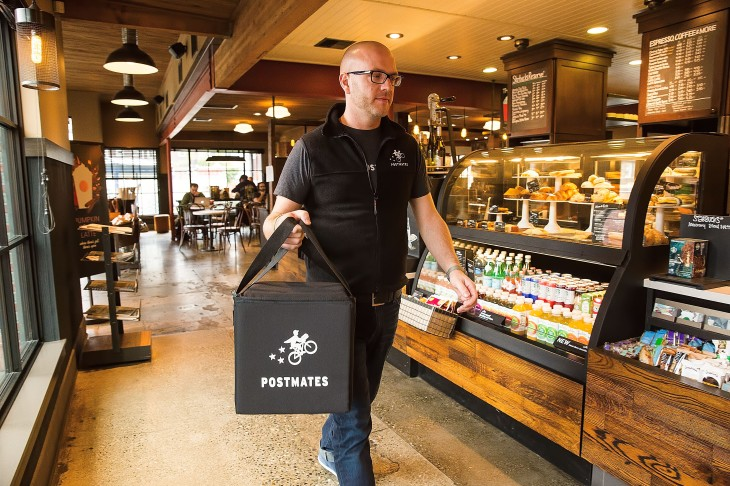 Postmates workers want minimum delivery guarantees and at