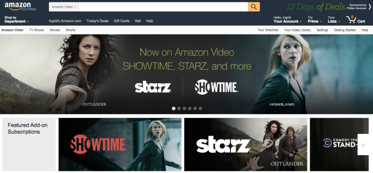 Amazon Makes A Bid For Cord Cutters, Adds Showtime, Starz ...