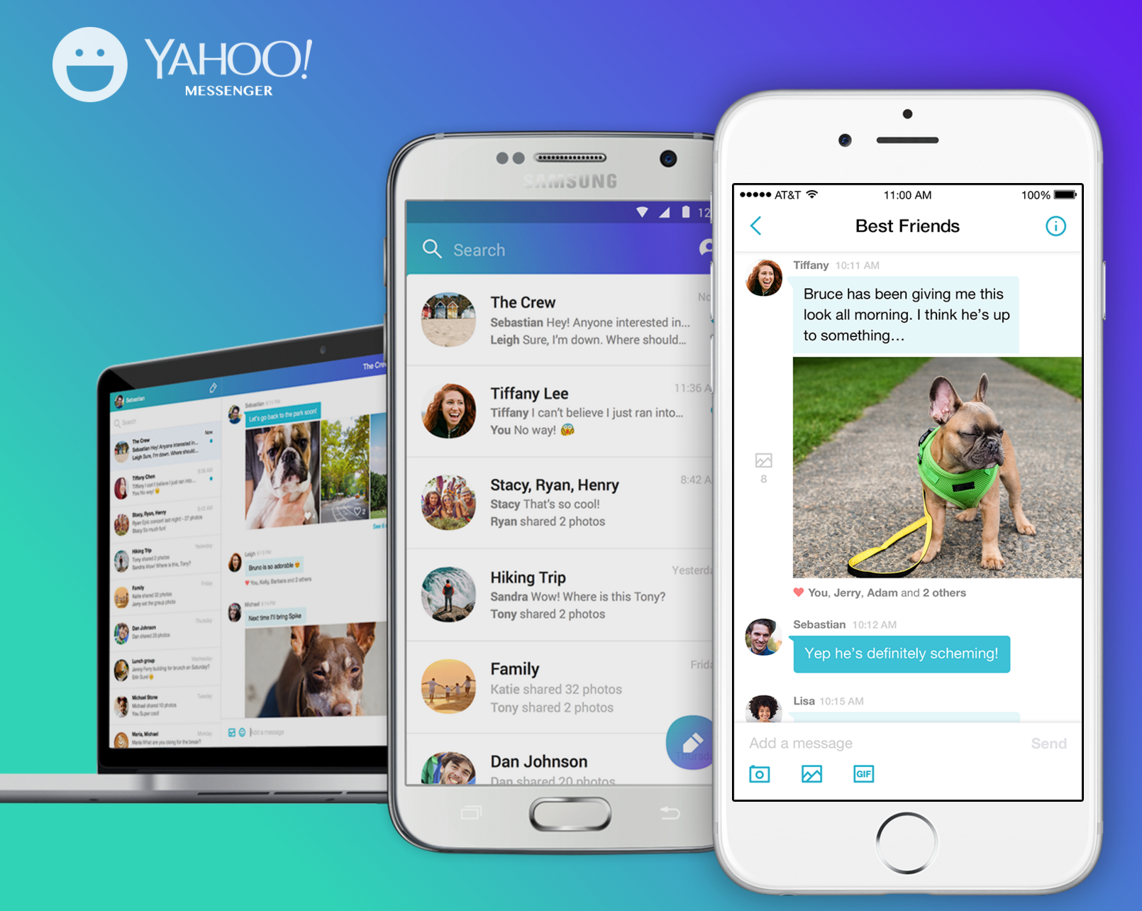 Yahoo Messenger is shutting down on July 17 redirects users to group messaging app Squirrel		 		 	Ingrid Lunden         @	       	7 hours