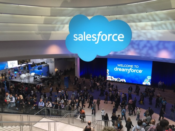 Salesforce Dreamforce show floor.