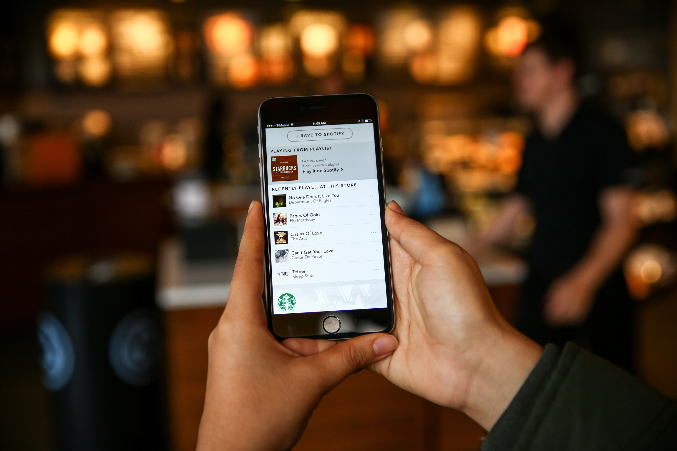 Starbucks Now Lets You Save The Songs You Heard In-Store To Spotify