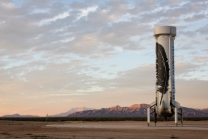 Recovered New Shepard rocket / Image courtesy of Blue Origin