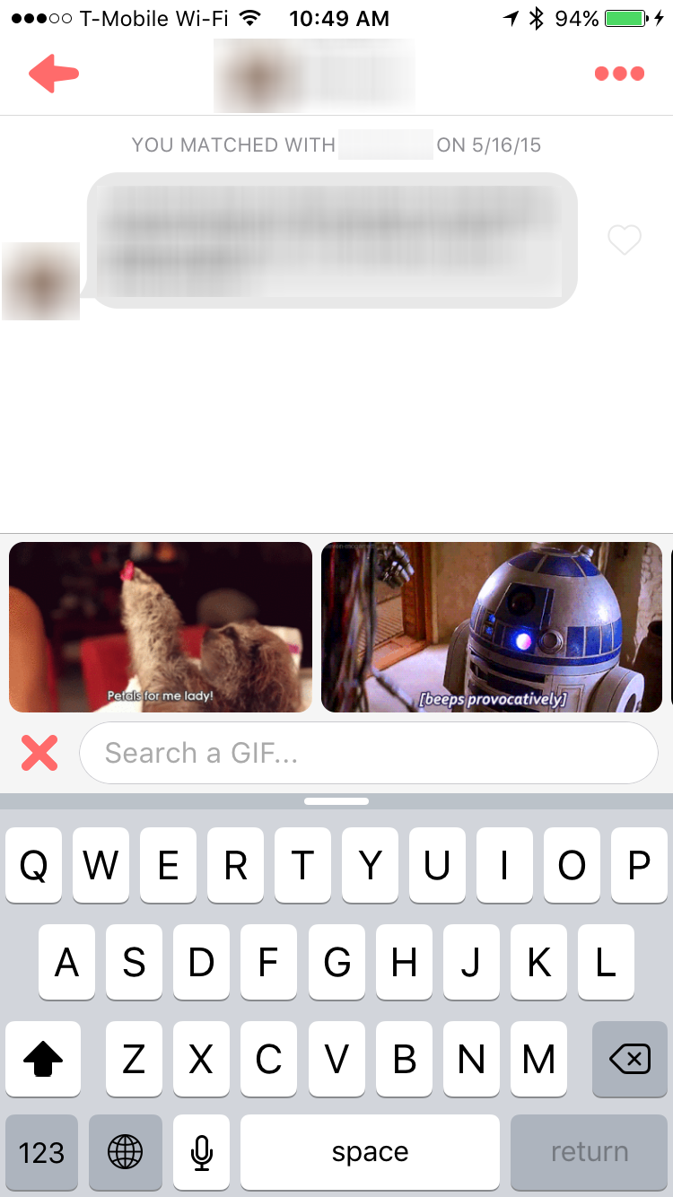 Tinder Makes Messaging More Fun With GIFs & Bigger Emoji
