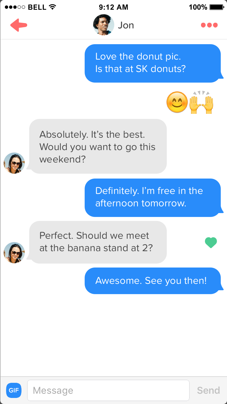 Cool things to say on tinder