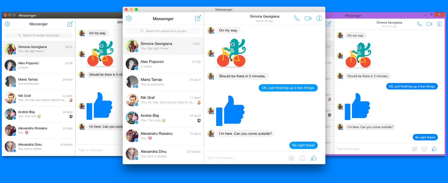 Unofficial Facebook Messenger For Desktop app