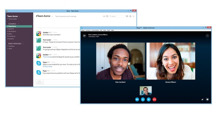 You Can Now Kick Off A Skype Call From Slack | TechCrunch