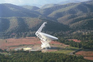 Green Bank Telescope in West Virginia / Image courtesy of the National Radio Astronomy Observatory