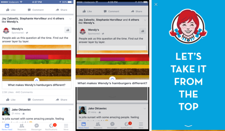 facebook officially launches canvas ads that load full screen rich