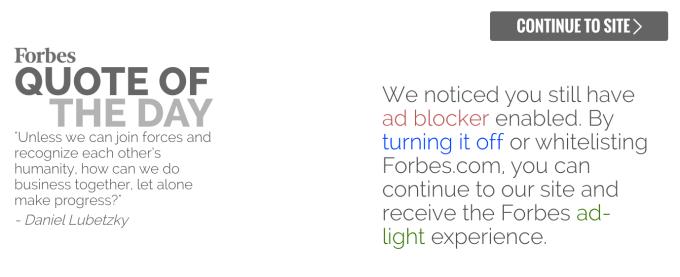 Forbes ad blocker blocker