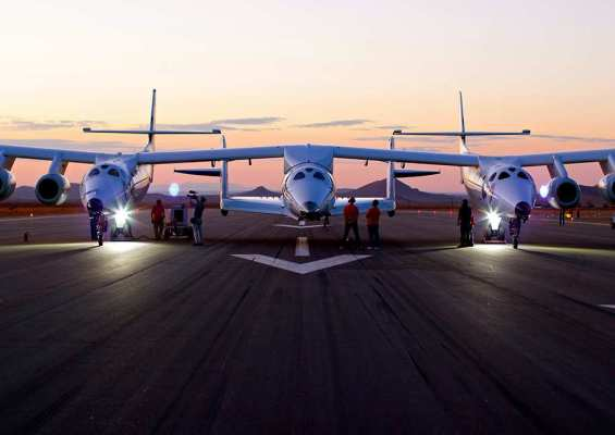 Virgin Galactic agrees to launch space flights from Italy whiteknighttwo with spaceshiptwo