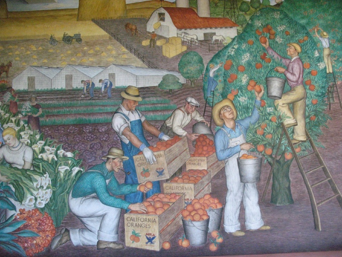 Coit Tower Mural photo courtesy of Flickr/Gary Stevens.