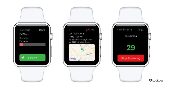 Lookout's new Apple Watch app will help you find your lost