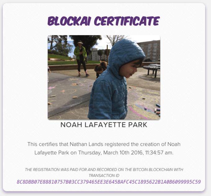 Blockai Certificate