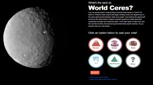 NASA asked the public what they though the white spots on Ceres were / Image courtesy of NASA