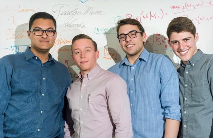 Founding Team - Zaid, Carson, Adam, Ryan (LTR), with Whiteboard