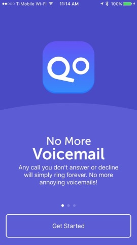 No More Voicemail is an app that kills voicemail so callers