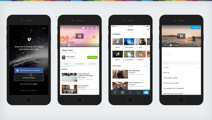 Vimeo's iOS app gets a big makeover aimed at improving