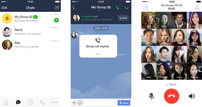 Messaging app Line now lets you host group calls with up to 200