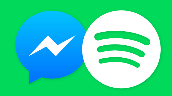 Facebook Messenger adds music, starting with Spotify song