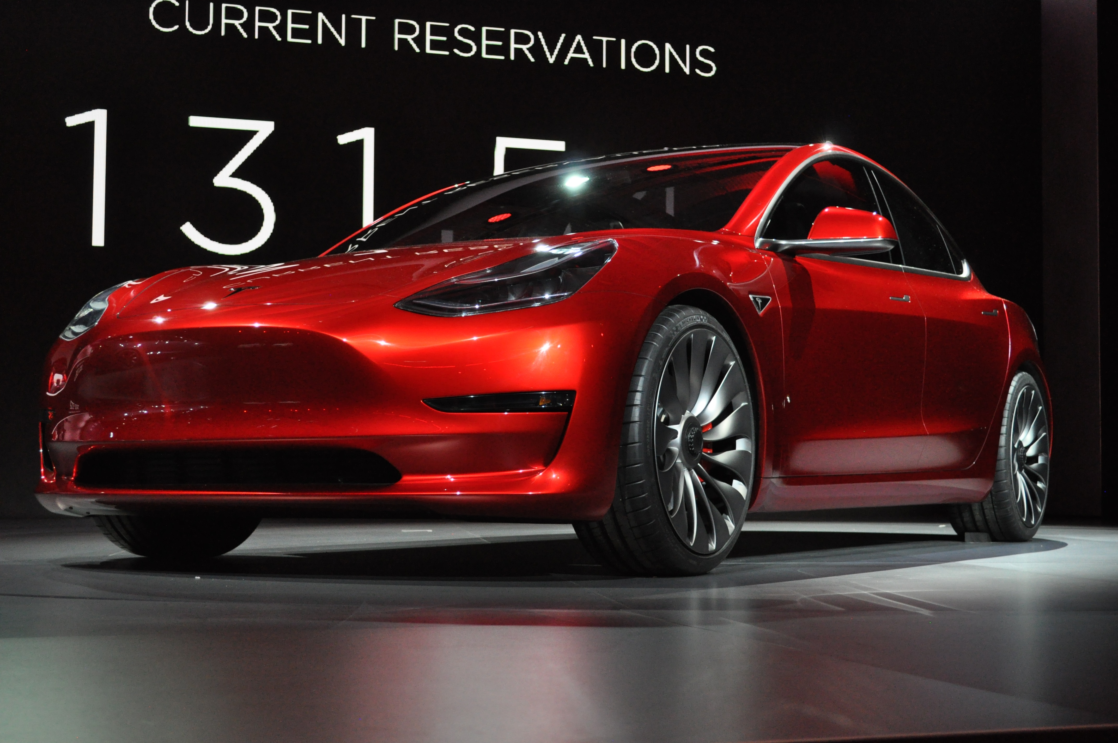 Here are 14 actual pictures of Tesla's $35,000 Model 3
