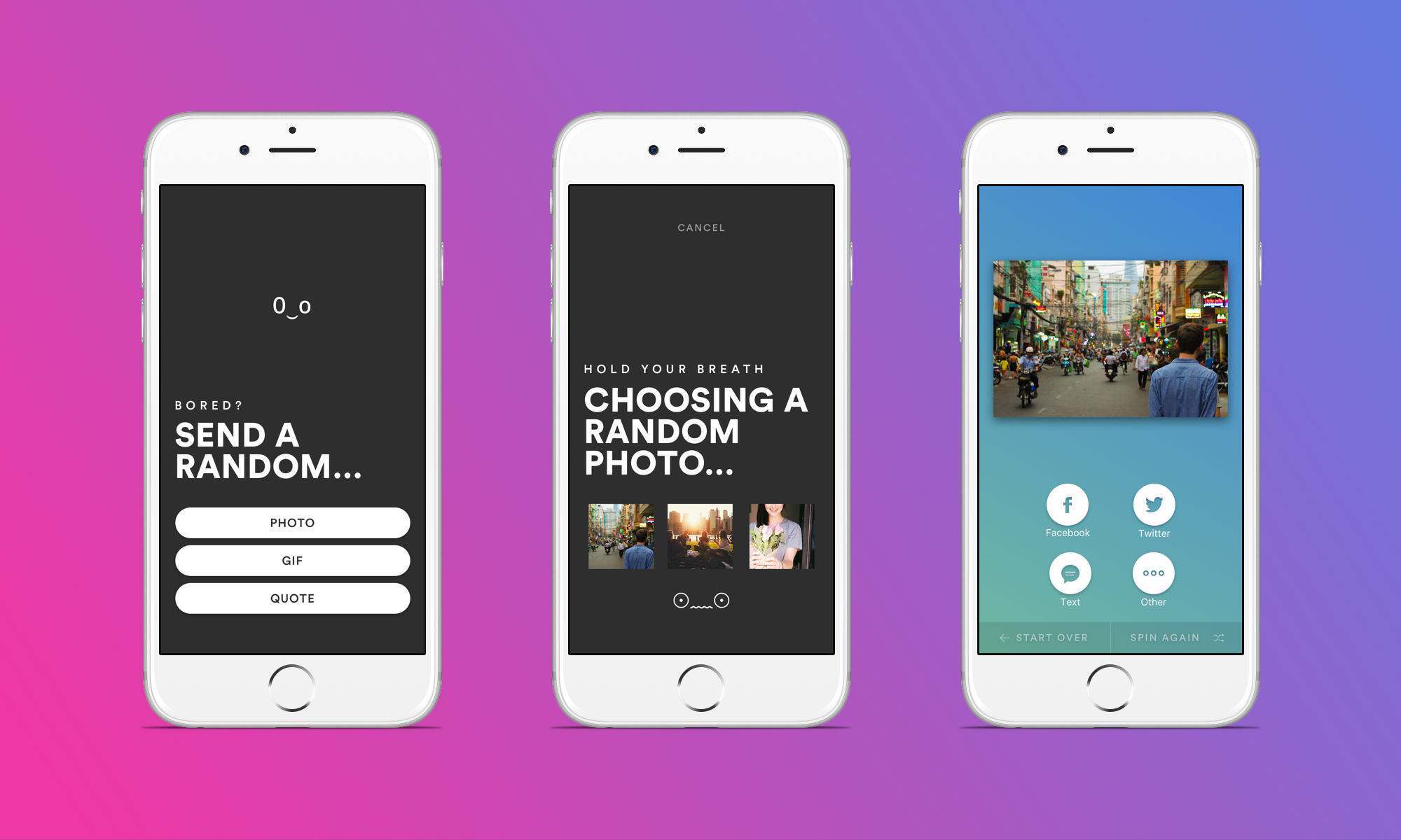 Rando Is A Random Social Sharing App That Lets You Play Russian Roulette With Photos Gifs And More Techcrunch