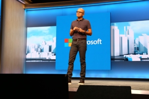 Satya highlighted the new platforms and uses for Windows 10