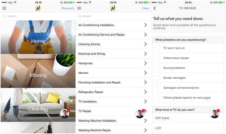 ServisHero, a mobile app for finding local services in