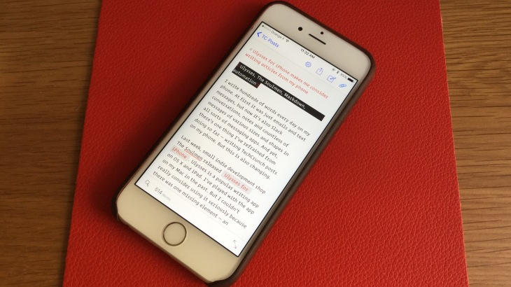 Ulysses for iPhone makes me consider writing articles on my