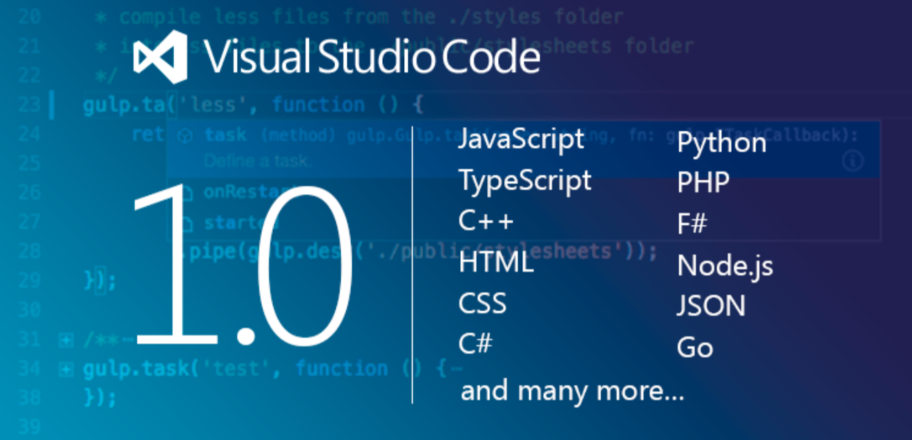 Microsoft's Visual Studio Code for Windows, OS X and Linux