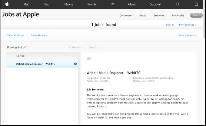 Apple - job posting