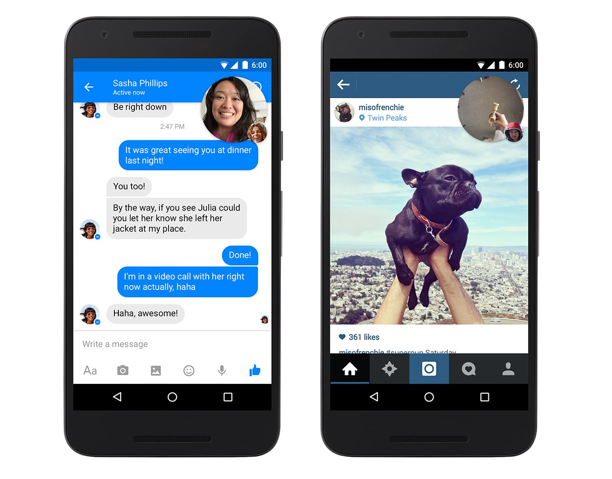 Facebook adds Dropbox support and video Chat Heads to