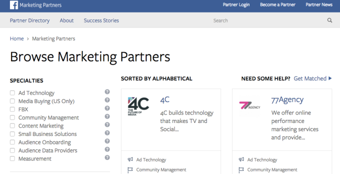 Facebook Platform Partners