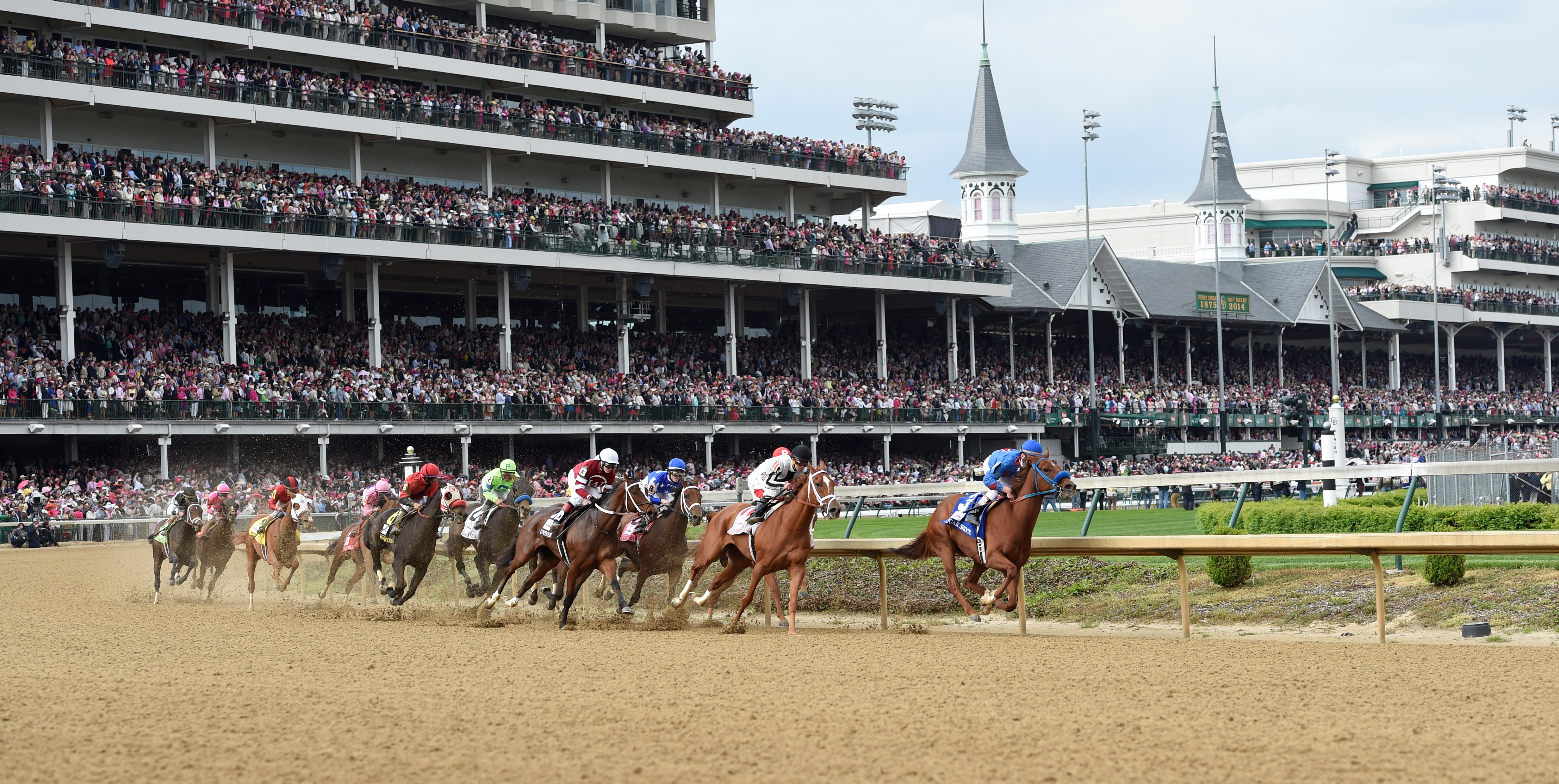 Kentucky Derby attendees can now order food place bets from their