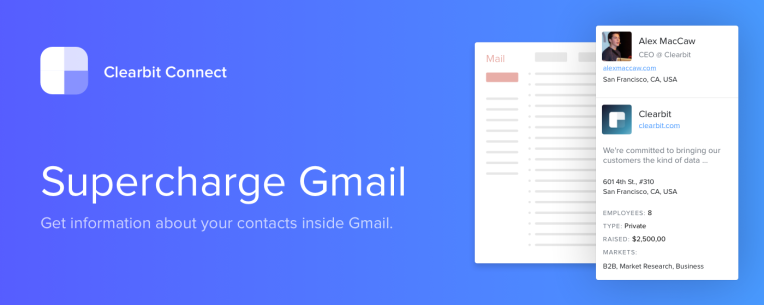 Email Help Address Anyone's Can Find Techcrunch New Connect's You Gmail Widget Clearbit