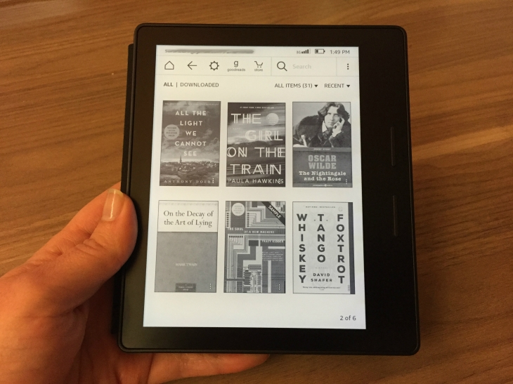 Kindle Oasis is beautiful, pricey and still not like reading a book