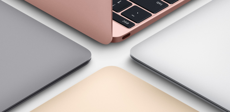 A fetching rose gold is the newest addition to the MacBook range