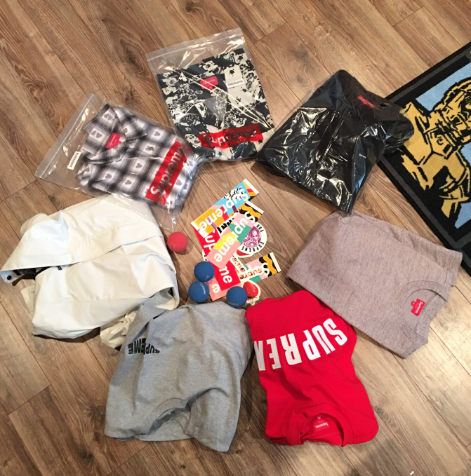 My last Supreme haul, thanks to Restocks
