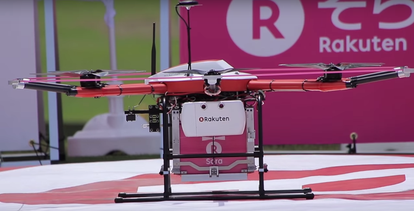 fore rakuten s delivery drones take to the golf course techcrunch. Black Bedroom Furniture Sets. Home Design Ideas