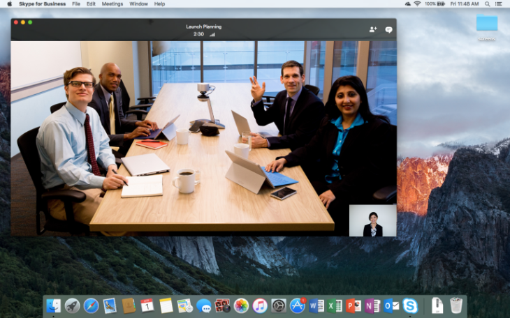 Skype for business hits the mac in preview mode techcrunch microsoft announced this morning the launch of skype for business for mac preview the business focused version of skypes communications services aimed at ccuart Choice Image