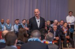 Keith Block from Salesforce speaking at Salesforce World Tour in Boston in April, 2016.