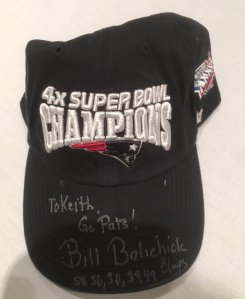 Bill Belichick autographed New England Patriots -- 4x Super Bowl Champion Hat