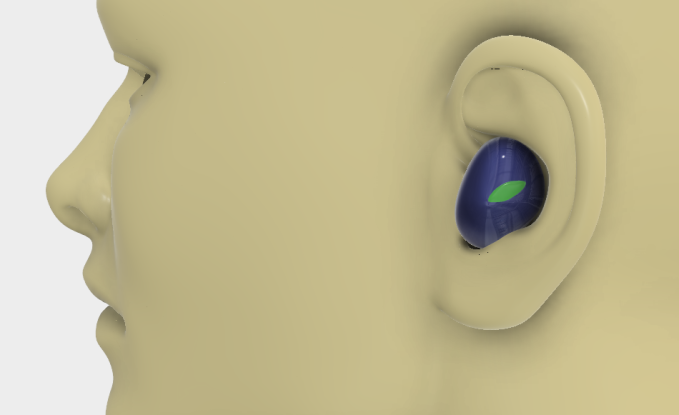 The design concept for a pair of fully wireless earbuds