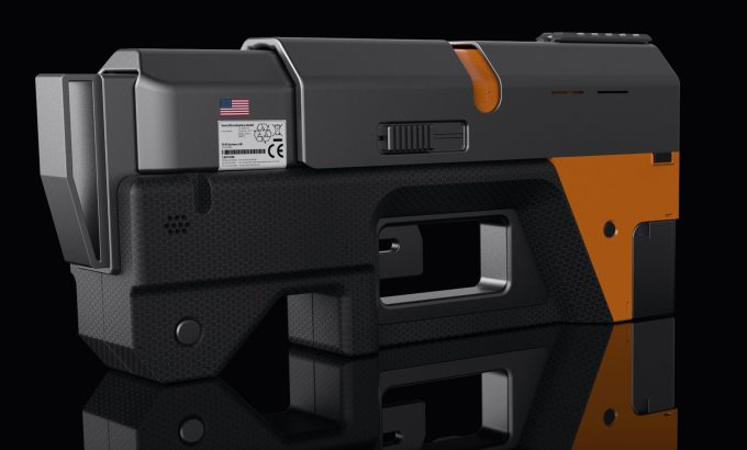 A concept image for the non-lethal self-defense weapon listed as a project on the FwdForce site