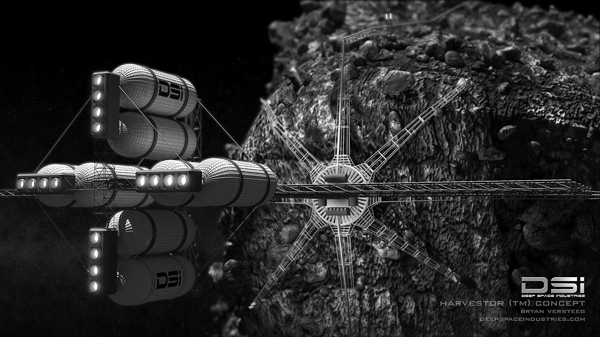 deep space industries mining bitcoins