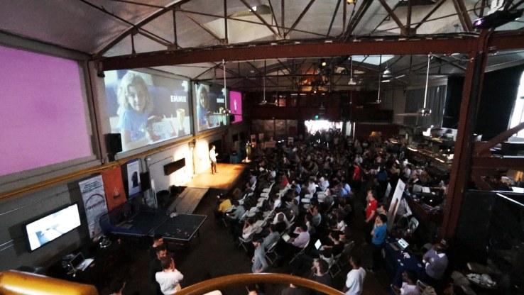 HAX batch VIII demo day at the Folsom Street Foundry in San Francisco.