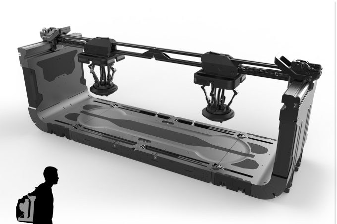 Concept pitch for a portable 3D printer listed on FwdForce